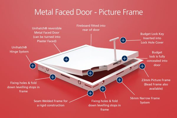 1hr Fire Rated - Metal Faced - Picture Frame