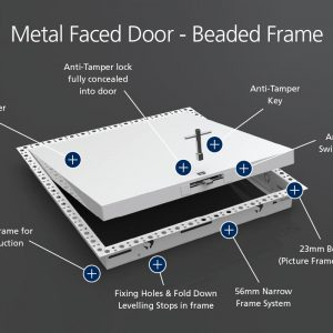 Anti-Tamper - Metal Faced - Beaded Frame