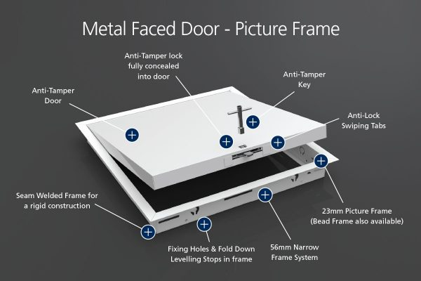 Anti-Tamper - Metal Faced - Picture Frame