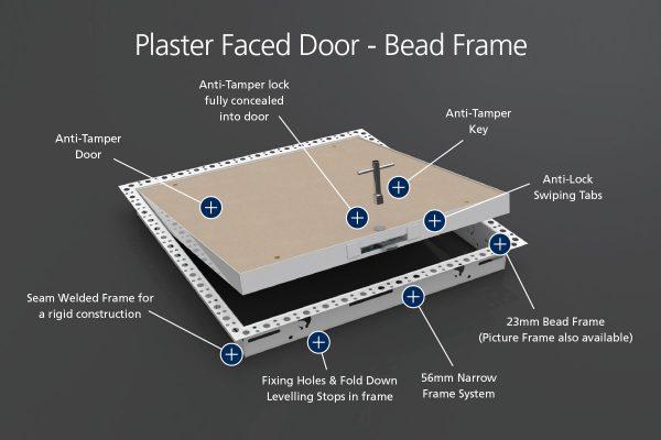 Anti-Tamper - Plaster Faced - Beaded Frame