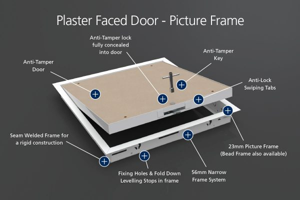Anti-Tamper - Plaster Faced - Picture Frame