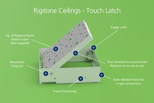 Chameleon - Rigitone Ceilings - Touch Latch