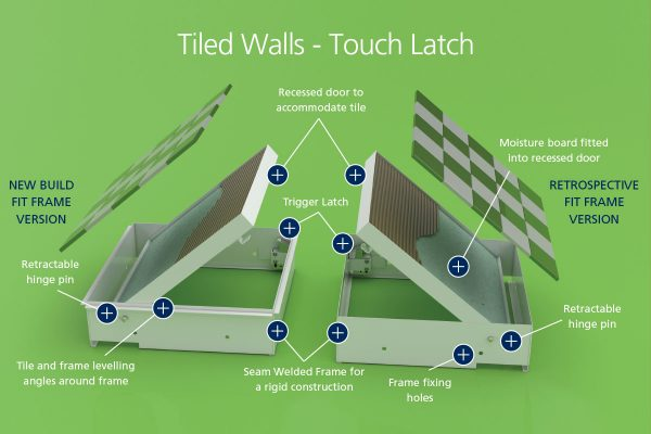 Chameleon - Tiled Walls - Touch Latch