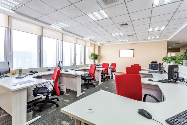 Exposed Grid Access Panels for Office Workplaces and Schools